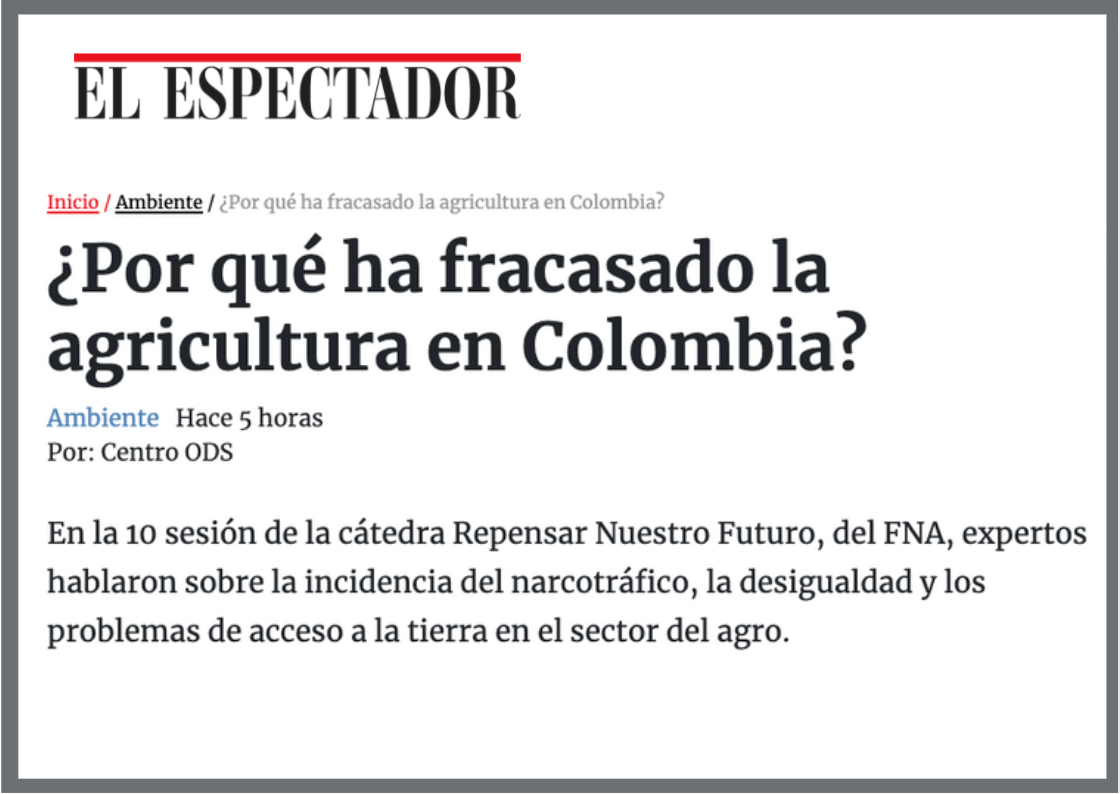 EE agricultura colombia